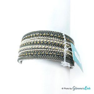 Maurices Multi Strand Faux Leather Bracelet